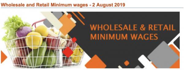 Minimum Wage Rate change